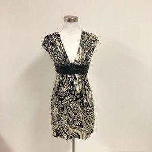 Sky Brand Dress SZ XS Mini Belted Tunic Paisley